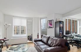 1 bedroom apartments for sale in North America. Studio apartment with balcony and river views in a modern penthouse, Manhattan, New York