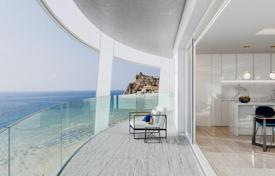 Apartments with pools for sale in Valencia. Three-bedroom spacious apartment in a new elite residence on the first line from the sea, Benidorm, Spain