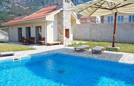 Furnished villa with a plot, a pool, a parking, a terrace and a sea view, Sveti Stefan, Montenegro for 495,000 €