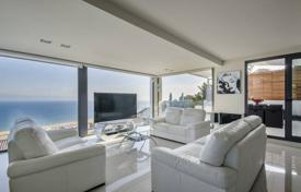 Luxury property for sale in Sitges. Stylish four-storey villa with a pool, a terrace and a garden, with panoramic sea views, Sitges, Spain