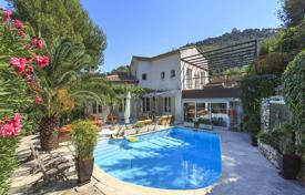 4 bedroom houses for sale in Nice. Comfortable villa with a swimming pool, terraces and a separate apartment, in a secure residence, near Monaco, Nice, France