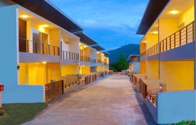 Townhouses for sale in Southeastern Asia. Furnished semi-detached house with garden and garage in a residential complex in the picturesque area of Koh Samui, Thailand