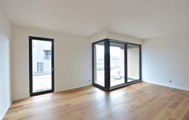 New home from developers for sale overseas. Modern two-room apartment with a furniture in a new residential house, Prague 8, Czech Republic