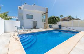 Villas and houses with pools by the sea for sale in Costa Blanca. Two-level modern villa just 100 meters from the beach in Playa Flamenca, Alicante, Spain