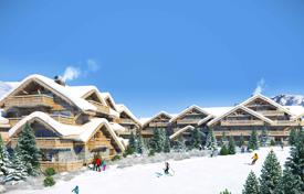 1 bedroom apartments for sale in French Alps. Studio apartment with a balcony and mountain views, in a new residence, next to the ski slopes and the ski lift, Yue, Isère, France
