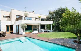 5 bedroom houses for sale in Barcelona. Three-storey villa with a garden and a swimming pool, Sant Cugat del Valles, Spain