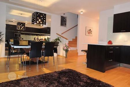 "Townhouses for sale in Prague. Furnished three-storey townhouse of ""luxury"" class in a prestigious modern district, Prague, Czech Republic"