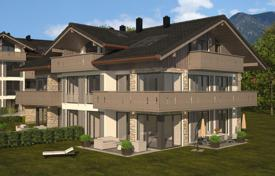 New homes for sale in Bavaria. New duplex apartment with a private garden and views of the mountains in Garmisch-Partenkirchen