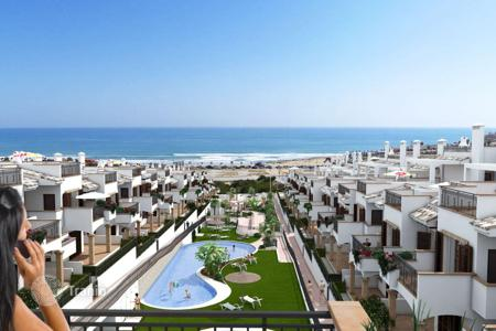 3 bedroom apartments from developers for sale in Spain. BUNGALOW NEAR THE BEACH