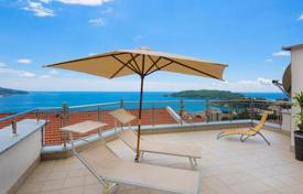 Bright penthouse with three terraces and sea views in a residence with a pool, Becici, Budva, Montenegro for 450,000 €