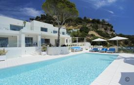Seaview villa with large terraces, an infinity pool and a direct access to the beach, Es Cubells, San Jose, Ibiza, Spain for 36,000 € per week