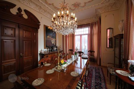 Luxury 4 bedroom houses for sale in Latvia. Villa with antique furniture, a spa, a park, a piece of beach, and a pier, in a posh district of Jurmala, Latvia