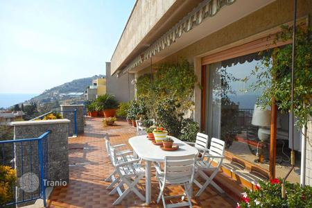 Coastal penthouses for sale in Sanremo. Elegant penthouse in San Remo, Italy. Apartment with a spacious terrace of 100 m² and a panoramic sea view