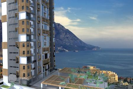 Commercial property for sale in Budva. Apartment house investment project in Becici resort