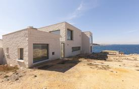 Off-plan houses with pools for sale in Southern Europe. Modern villa with a pool and a garden, first line from the sea, L'Escala, Spain
