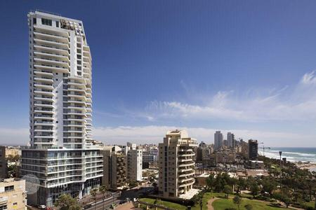 New homes for sale in Israel. Penthouse with balcony and sea view, in a new residence, in 300 meters from the beach, in Netanya, Israel