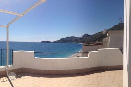 3 bedroom apartments for sale in Sicily. Penthouse with a terrace by the sea in Letojanni, Sicily, Italy