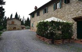 Luxury houses for sale in Greve in Chianti. Ancient stone villa with a swimming pool in Greve in Chianti, Tuscany, Italy