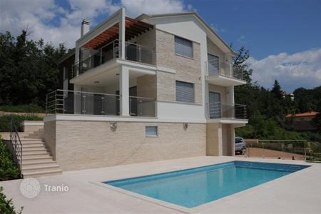 4 bedroom houses for sale in Croatia. New villa with pool and panoramic views of the Kvarner Bay in Opatija and islands