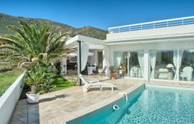 Houses with pools for sale in Gerona (city). Bright modern villa with a pool and a terrace overlooking the sea, near the beach, El Port de la Selva, Spain