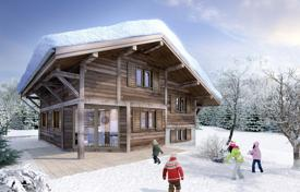 4 bedroom houses for sale in French Alps. New three-storey chalet with a covered terrace, in a private residence, next to the ski slopes, Chatel, France