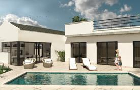 Houses with pools for sale in La Marina. Two-level villa with a pool in a new complex, La Marina, Alicante, Spain