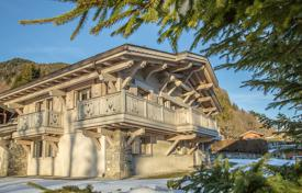 Houses for sale in Megeve. Comfortable chalet with elite finishing, overlooking the Val d'Arly, the Rochebrune Mountain and Mont Blanc, Megeve, Alps