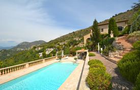 5 bedroom houses for sale in Côte d'Azur (French Riviera). Cozy family hillview villa with a garden, a swimming pool, a garage and a large cellar in a private village, Aspremont, France