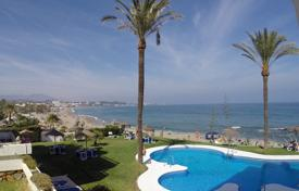 Apartments for sale in Mijas. Cozy apartment with a parking, a terrace and a sea view in a residential complex with a swimming pool, Mijas, Spain