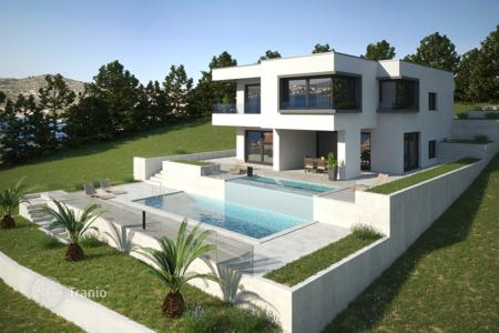 Coastal houses for sale in Rogoznica. Luxury villa under construction