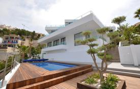 Houses for sale in Altea. New four-level villa overlooking the sea and the mountains in Altea, Alicante, Spain