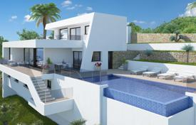 Modern villa with panoramic views of the Mediterranean Sea in in a new residential complex with pool, barbecue and parking, Benitachell for 1,310,000 €