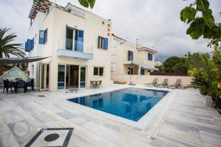 Coastal houses for sale in Cyprus. Luxury villa with a sauna and Jacuzzi, 150 m from the Coral Bay, Paphos