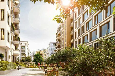 Apartments with pools for sale in Germany. Penthouse in a new residential complex in the Kreuzberg- Friedrichshain area, Berlin