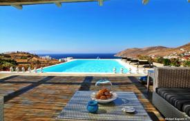 Property for sale in Mikonos. Spacious furnished 3-storey villa overlooking the sea and the mountains on the Mykonos island