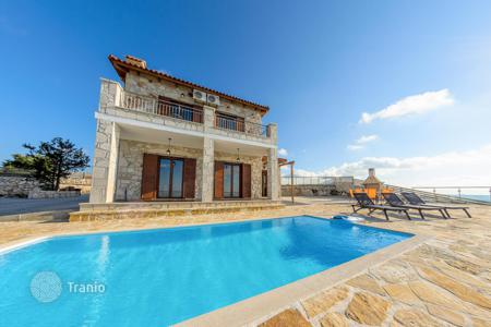 Coastal residential for rent in Greece. Designed villa with swimming pool and BBQ area, 300 m from the beach of Xygia, isle Zakynthos, Greece