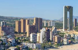 2 bedroom apartments by the sea for sale in Benidorm. New apartment with a terrace, 100 meters from the beach, Benidorm, Spain