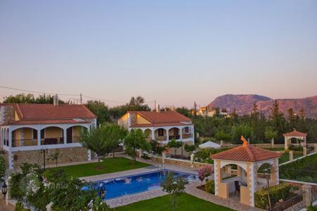 Houses with pools for sale in Crete. Crete, Chania. Beautiful complex of 3 independent villas 85 m² each is for sale