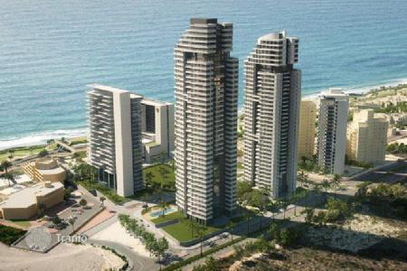 New homes for sale in Israel. New apartment with spacious balcony in a prestigious residential complex overlooking the sea in Netanya, Israel