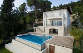 Houses with pools for sale in Primorje-Gorski Kotar County. Modern sea view villa with a terrace, a swimming pool and a parking, Opatija, Croatia