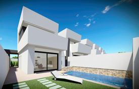 Terraced villas with private pool and solarium in Santiago de la Ribera for 270,000 €