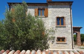 4 bedroom houses for sale in Istria County. Small cottage with two terraces, a pool and sea views in a residence with a tennis court, Svetvincenat, Istria County, Croatia