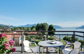 Residential for sale in Maccagno. The comfortable 2-storey penthouse with a pool, a parking place and a marina for boats, on the shore of the picturesque lake Maggiore