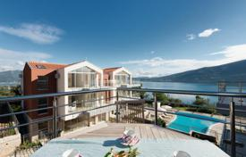 1 bedroom apartments by the sea for sale in Denovici. Apartment with terrace in a residential complex with a panoramic swimming pool and views of the Bay of Kotor, Djenovici, Montenegro