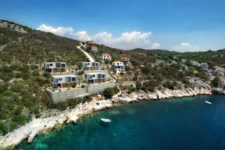 Development land for sale in Croatia. Project 4 villas, Marina