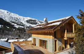 Luxury chalets for sale in Alps. Two new chalets with large terraces and balconies, a few minutes walk from the center of Meribel, Alps