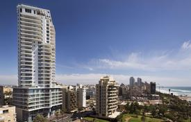 Apartments with pools by the sea for sale in Center District. Penthouse with balcony and sea view, in a new residence, 300 meters from the beach, in Netanya, Israel