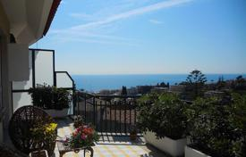 Coastal penthouses for sale in Sanremo. Penthouse with a summer kitchen on the spacious terrace and sea view in San Remo