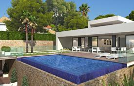 Modern functional villa with balconies, a garden and panoramic views on the first line of the sea, El Portet, Moraira, Spain for 4,400,000 €