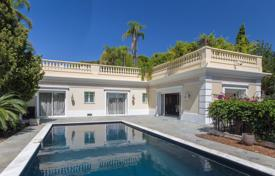 Luxury houses with pools for sale in Provence - Alpes - Cote d'Azur. Two seaview villas with luxurious interior on a large plot with a landscaped park and a pool, Saint Jean Cap Ferrat, France
